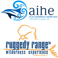 Aihe Eco Charters & Water Taxi and Ruggedy Range logos