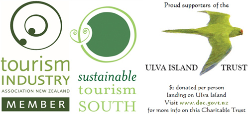 TIANZ, Sustainable Tourism South, Ulva Island Charitable Trust logos