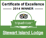 Stewart Island Lodge Trip Advisor Certificate