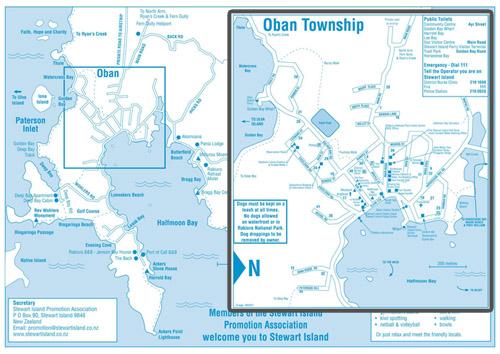 2014 2015 Stewart Island Street Map