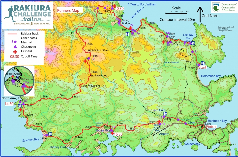 Rakiura Track runners map